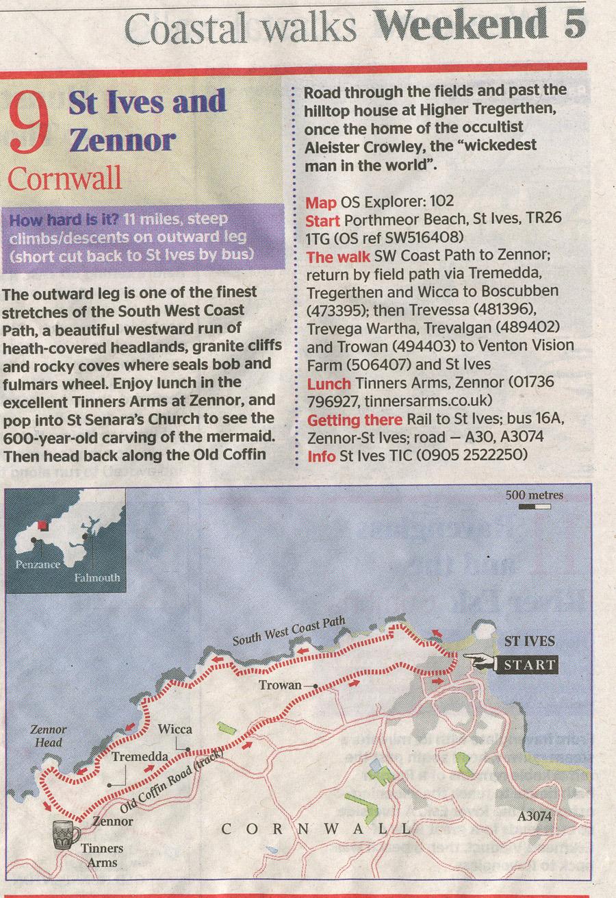 coastal wlaks cornwall